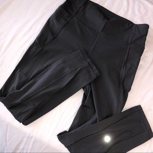 Gray lululemon mid calf crops leggings